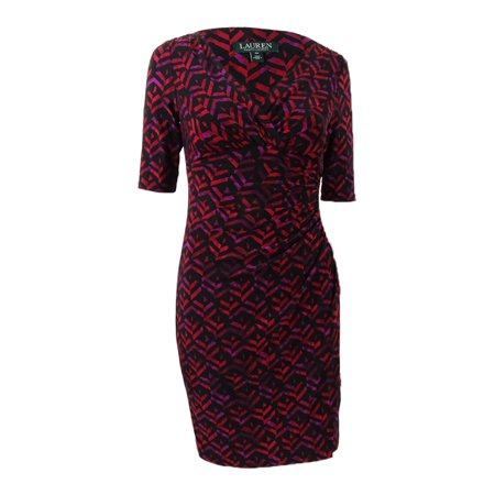 Jersey Petite Wrap Dress (Lauren by Ralph Lauren Women's Petite Printed Jersey Dress)