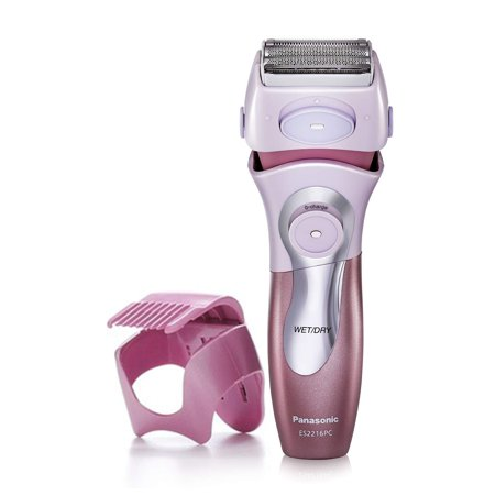 Panasonic Electric Shaver for Women, ES2216PC, Close Curves Electronic Shaver, 4-Blade Cordless Electric Razor with Bikini Attachment and Pop-Up Trimmer, Wet or Dry Shaver Operation 8.20in