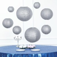 """Efavormart Set of 8 Chinese Lanterns Hanging Paper Lanterns With Metal Frame 6""""/8""""/10""""/14"""""""