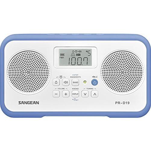 AM/FM-STEREO DIGITAL PORTABLE RADIO BLUE