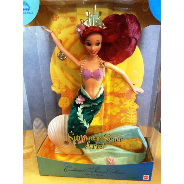 2001 disney collector doll - enchanted seasons collection - summer seas ariel