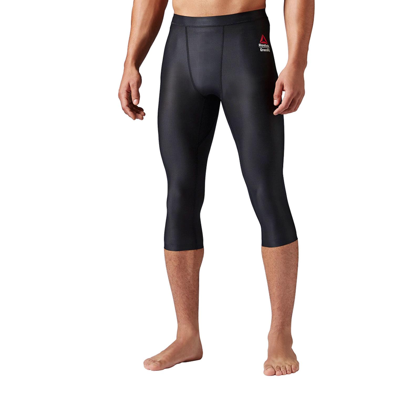 7ad098d98b3933 Reebok Men's Crossfit 3/4 Compression Legging Black ap8950 - Walmart.com