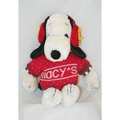 Vintage 1972 Snoopy Macy S Christmas Ear Muffs Sweater Plush Stuffed
