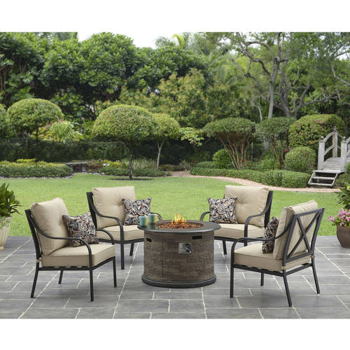Better Homes and Gardens Byron Valley X back 5 Piece Gas Fire Pit