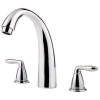 Pfister Serrano Double Handle Roman Tub Filler Faucet Trim Only with Metal Lever Handles and Tub Spout, Available in Various Colors