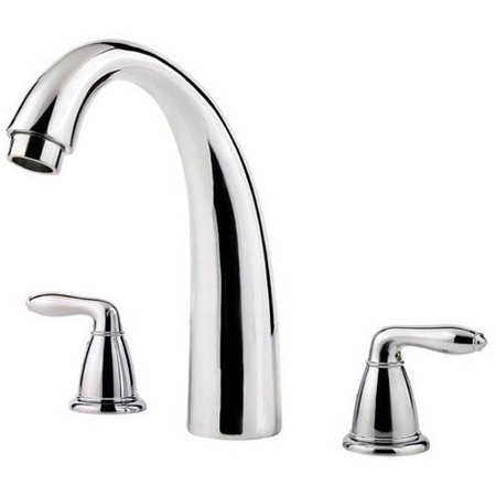 Pfister Serrano Double Handle Roman Tub Filler Faucet Trim Only with Metal Lever Handles and Tub Spout, Available in Various Colors Series Roman Tub Spout