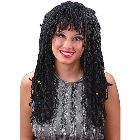 Beaded Twist Wig Adult Halloween Accessory