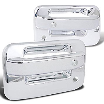 - Spec-D Tuning DRH-F15004C6 Ford F150 2dr Abs Door Handle Cover W/ 2 Key Holes Chrome