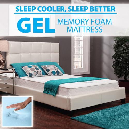 "Signature Sleep 8"" Hybrid RenewFoam Gel Memory Foam/ Coil Mattress, Multiple Sizes"