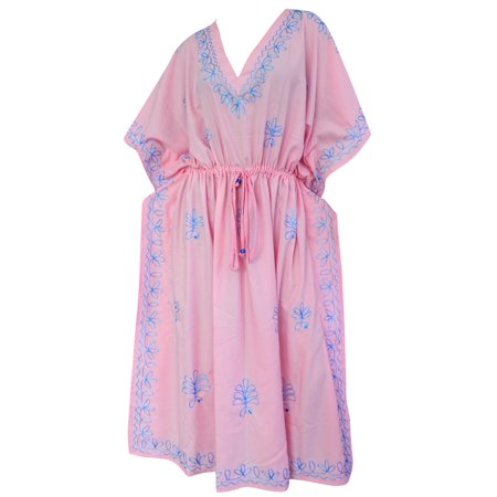 Stylish Womens Casual Evening Rayon Party Wear Embroidered Plus Size Caftan Solid Plain Maxi Dress Kaftan