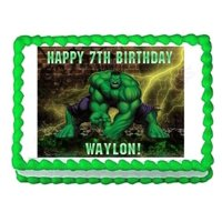 Marvel Avengers The Hulk Angry Brick Wall Background Edible Cake Topper Image