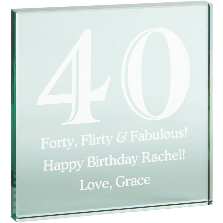 Personalized Any Message Birthday Glass Block