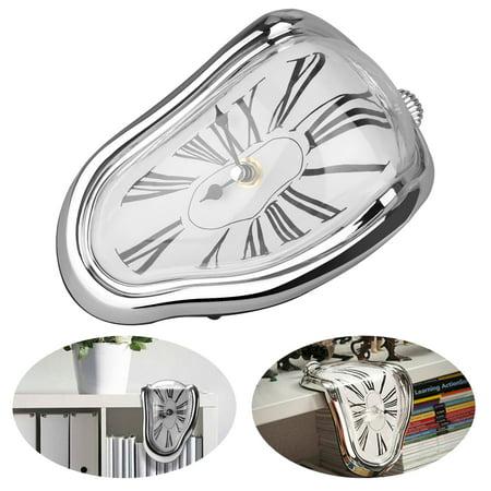 Decorative Dali Watch Melting Clock - Table Shelf Desk Fashion Clock, Salvador Dali Inspired, Decorative & Funny Home Office Desks Watch,Best Birthday Gift Idea for Men and