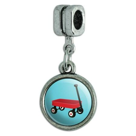 Little Red Wagon Italian European Style Bracelet Charm Bead