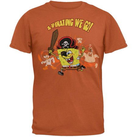 Spongebob Squarepants - A Pirating Soft T-Shirt (Spongebob Shirts For Adults)