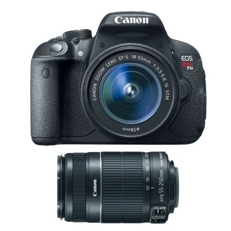 Canon EOS Rebel T5i DSLR with 18-55mm f/3.5-5.6 IS & 55-250mm f/4-5.6 Lenses