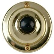 Carlon DH1605 Round Corded Push Button, 1-3/4 in Dia x 7/8 in H, Black
