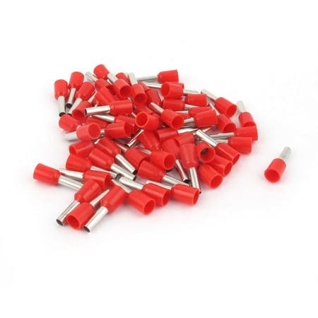 Jack Ferrule (Unique Bargains 50 Pcs Crimp Cord End Terminal Insulated Bootlace Ferrule Red E2508 14AWG 2.5mm2)