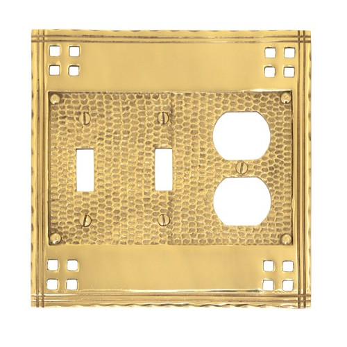 BRASS Accents Triple Switch Wall Plate (Set of 2)