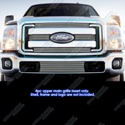 Fits 2011-2016 Ford F-250/F-350/Lariat/King Ranch/XLT Billet Grille Insert