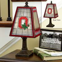 Ohio State Small Art Glass Lamp