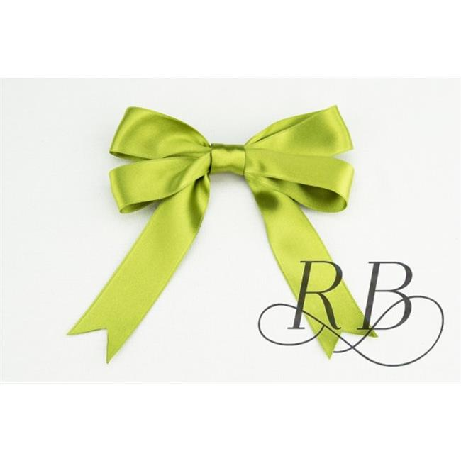 Ribbon Bazaar 8010 1 in. Luxious Satin Ribbon, Oasis Green - By The Yard
