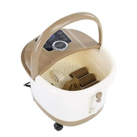 Portable Foot Spa Bath Massager Bubble Heat Soaker Vibration Pedicure Soak Tub US Plug 110V, Pedicure Massager , Pedicure (Collection Freestanding Soaker Tub)