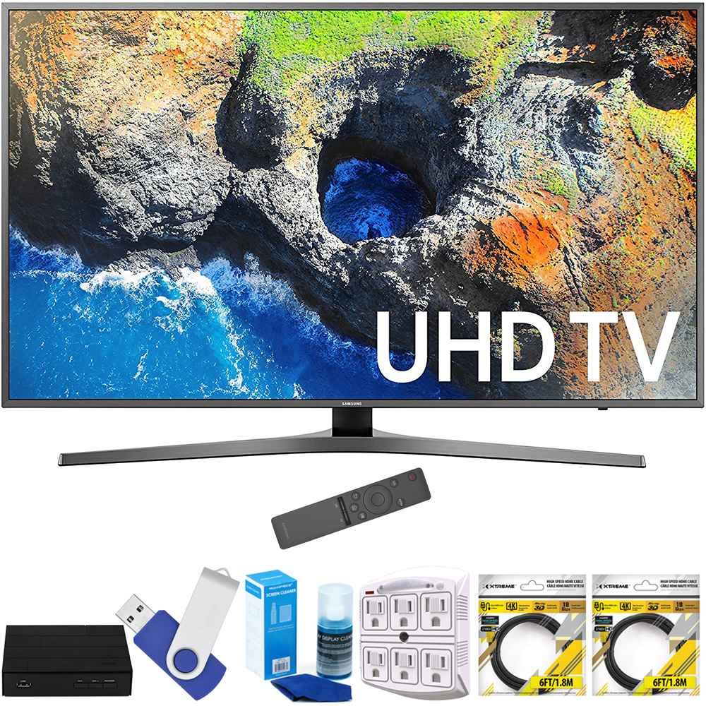 "Samsung UN55MU7000FXZA 54.6"" 4K Ultra HD Smart LED TV (2017 Model) Plus"