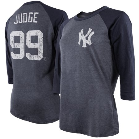 Aaron Judge New York Yankees Majestic Threads Women s 3 4 Sleeve Name    Number Raglan T-Shirt - Navy - Walmart.com 1ec8c592126