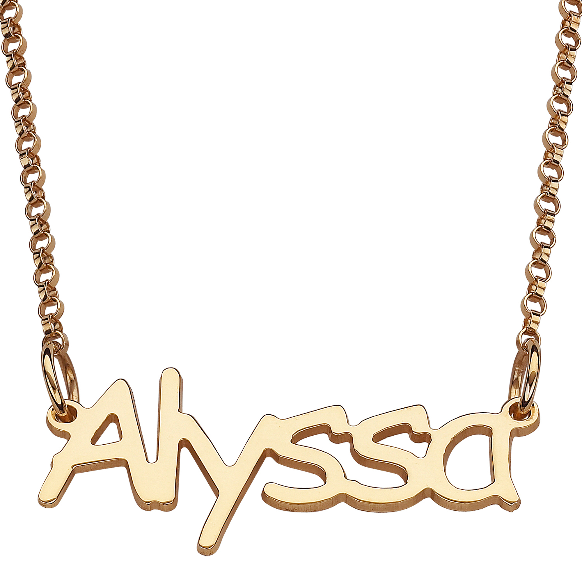 Personalized girls gold over sterling silver name necklace personalized girls gold over sterling silver name necklace walmart aloadofball Choice Image