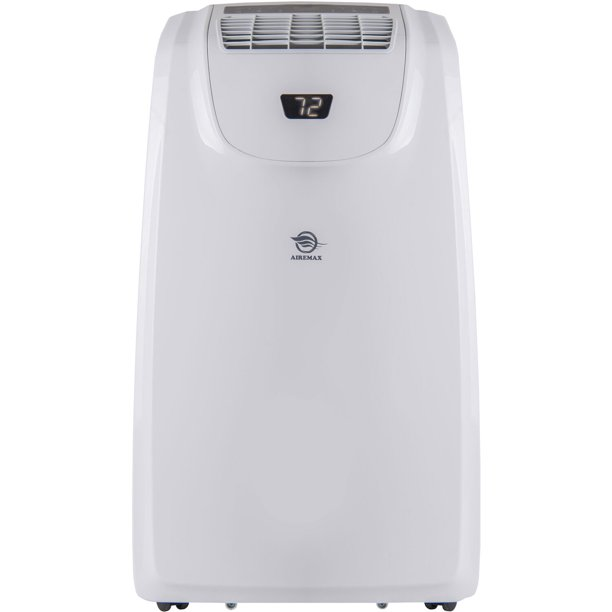 Airemax Heat Cool Portable Air Conditioner With Remote Control For Rooms Up To 500 Sq Ft Walmart Com Walmart Com