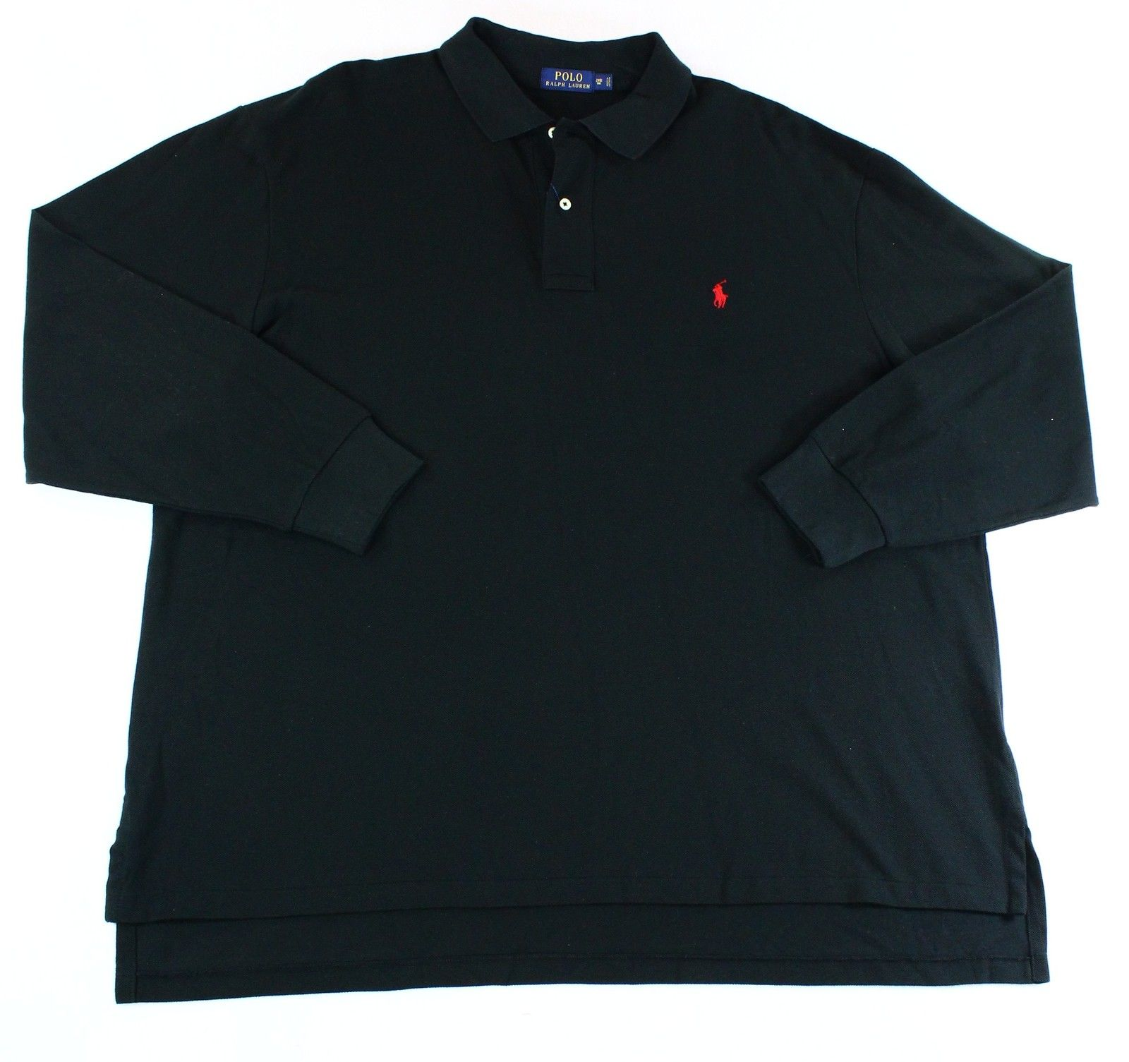 Polo Ralph Lauren New Black Men Size 4xlt Long Sleeve Polo Rugby