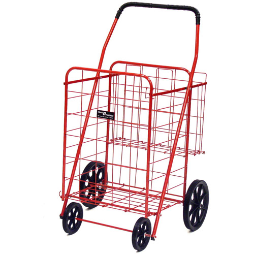 Easy Wheels Jumbo Shopping Cart Plus, Red, 1ct