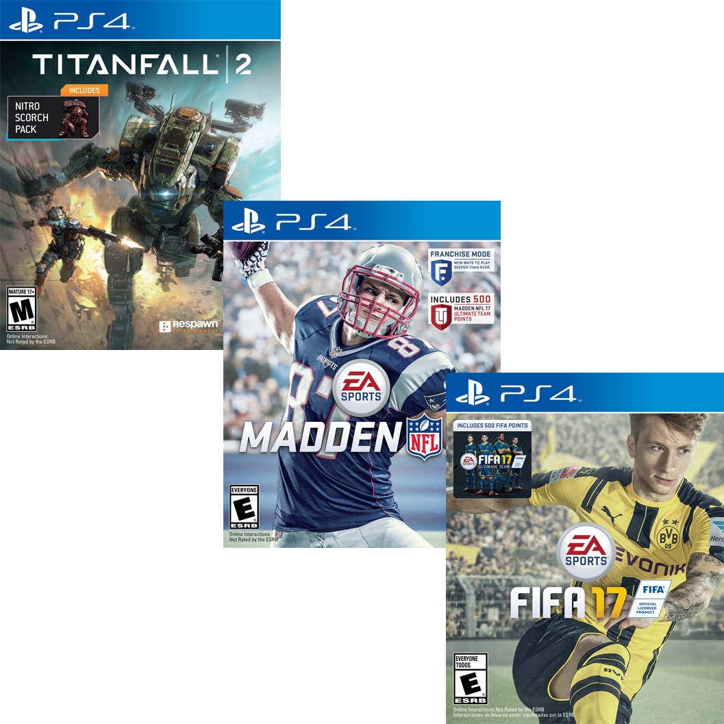 Buy 2 EA Wal-Mart Exclusive Software Titles (PS4)
