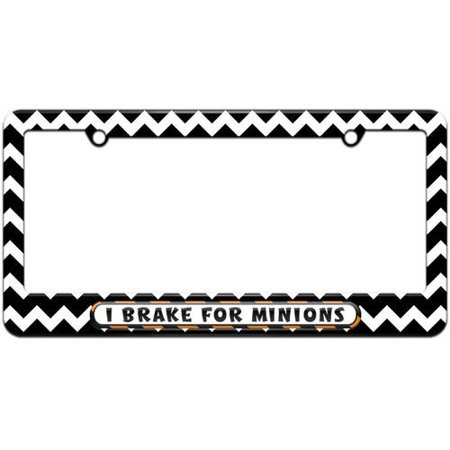I Brake For Minions License Plate Tag Frame, Multiple Colors](Gold Chestplate)