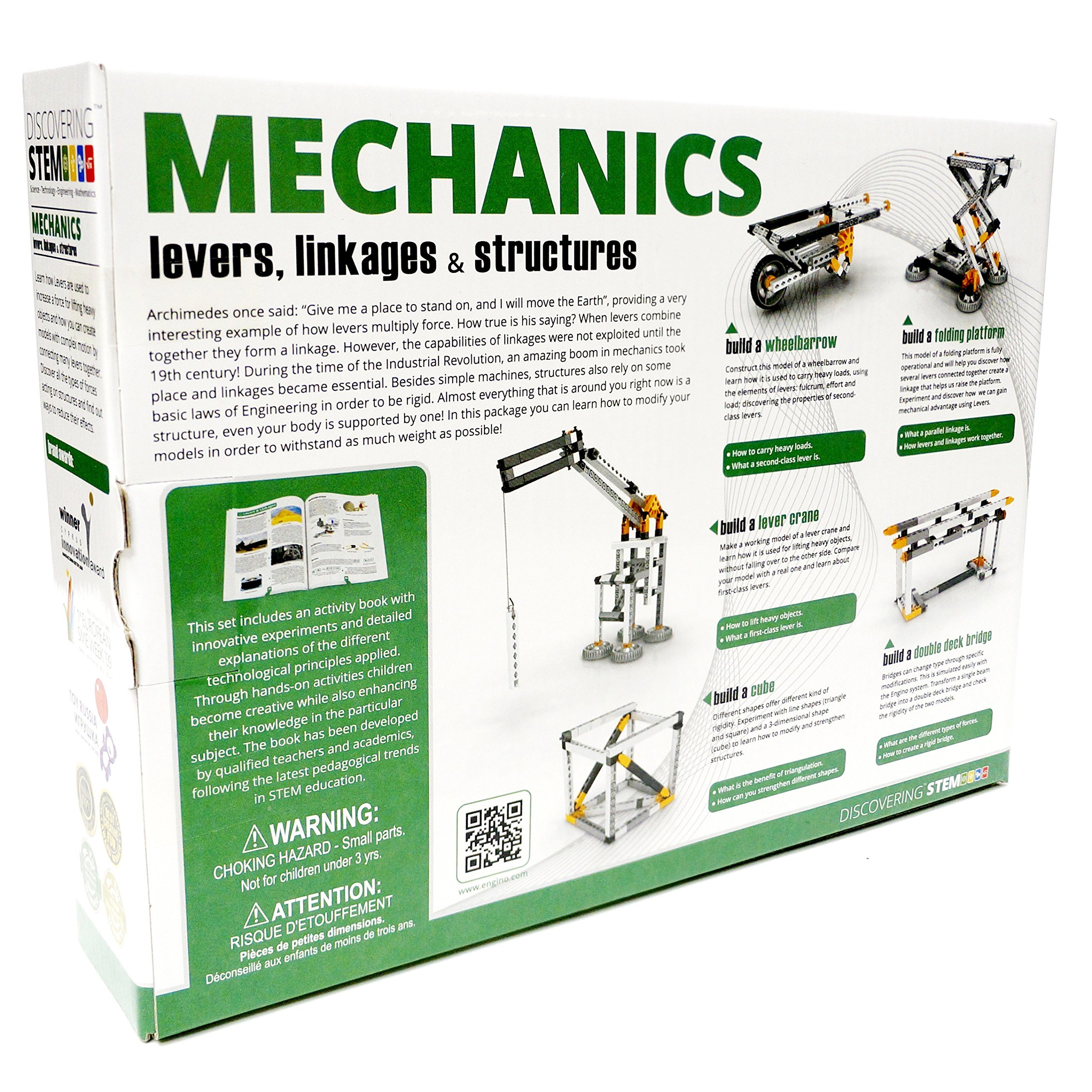 Discovering Stem Mechanics Levers Linkages /& Structures by Engino Brand New