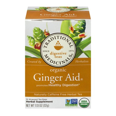 Traditional Medicinals Organic Ginger Aid Tea Bags, 16 - Organic Ginger Tea Bags