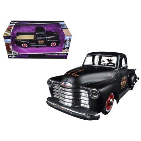 Outlaw Late Models (1950 Chevrolet 3100 Pickup Truck Matt Black