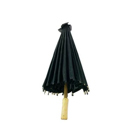 32 Inch Black Paper Like Parasol Umbrella For Photo Shoots, Weddings, Bridal Showers, Costumes, and - Bridal Shower Umbrella