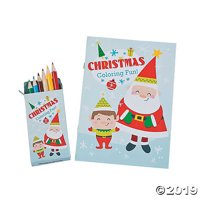 Nordic Noel Coloring Books with Colored Pencils