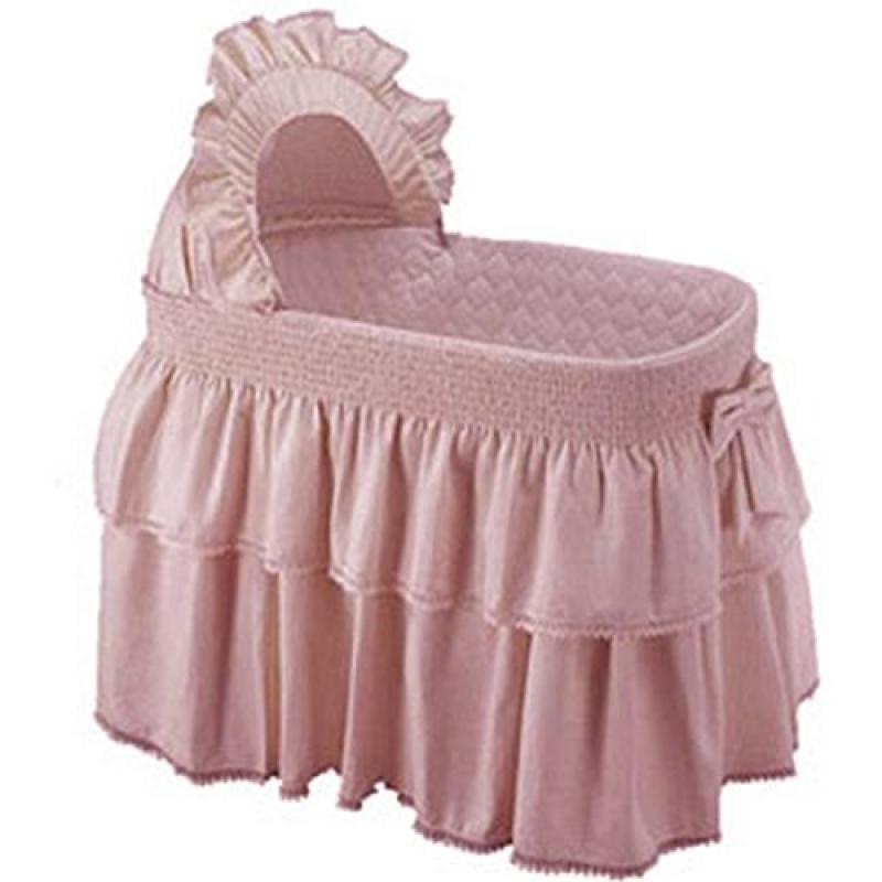 Baby Doll Bedding Paradise Rainbow Bassinet Set, Pink