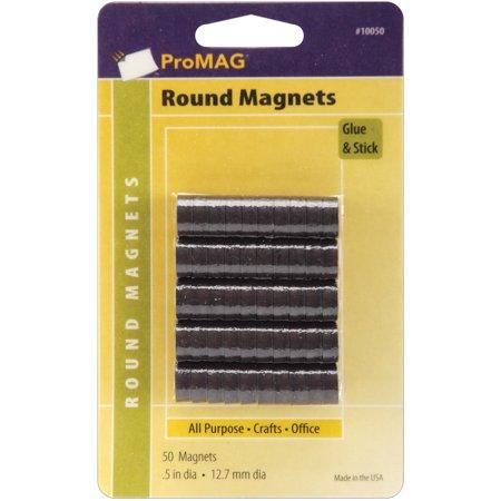 """ProMag Flexible Round Magnets-.5"""" 50/Pkg - image 1 de 1"""