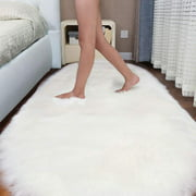 47x20 inch Non Skid Soft Fluffy Area Rugs Oval Plush Shaggy Rugs Floor Carpet Mat Living Room Bedroom Kids Room Home Decor