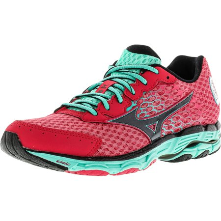 save off 2e384 49427 Mizuno Women's Wave Inspire 11 Pink / Black Green Ankle-High Running Shoe -  8M