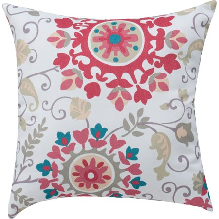 mainstays medallion print coral decorative decorative pillow - Coral Decorative Pillows