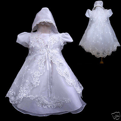 New Baby Girl Christening Baptism Formal Dress Gown New Born to 30 months - Christening Dresses