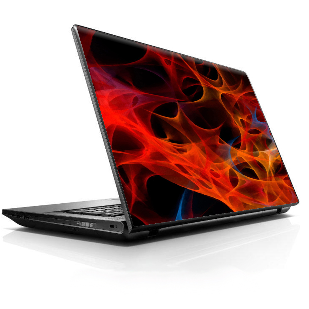 """Laptop Notebook Universal Skin Decal Fits 13.3"""" To 16"""" / Orange Fire"""