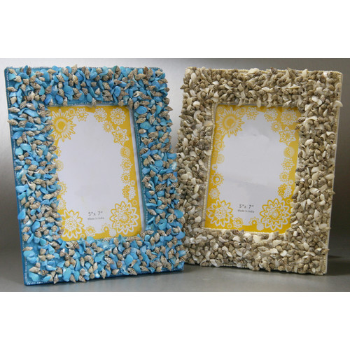 Kindwer Sea Shell Picture Frame (Set of 2)