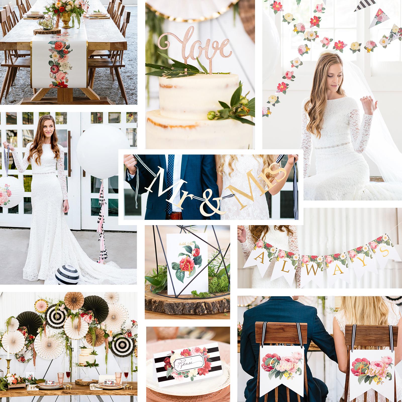 My Mind's Eye Botanical Wedding - Head/Guest/Cake Table D...