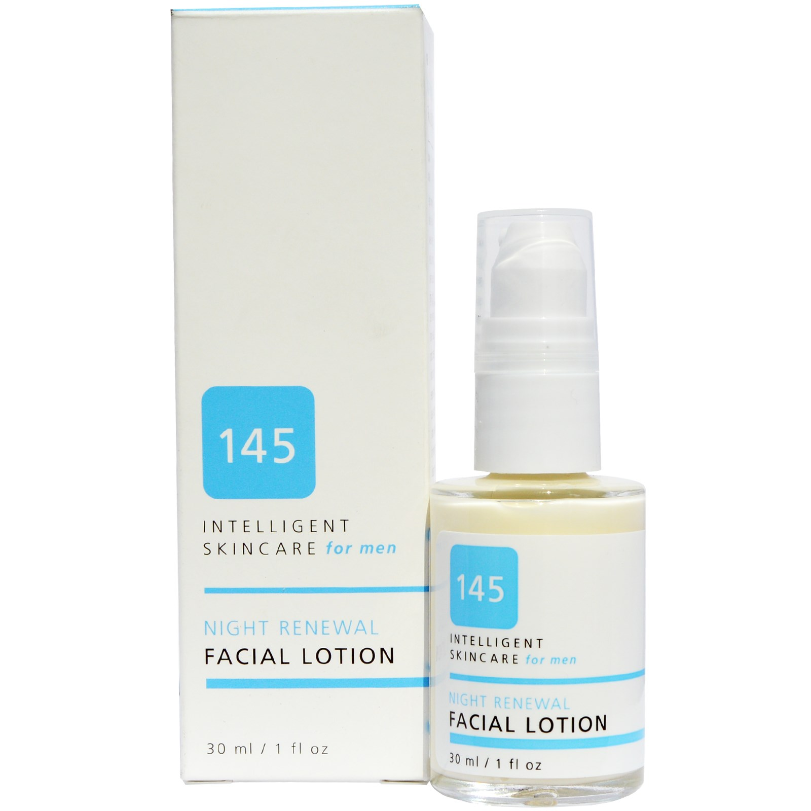 145 Intelligent Skincare for Men, Night Renewal Facial Lotion, By Earth Science, 1 fl oz(pack of 1)